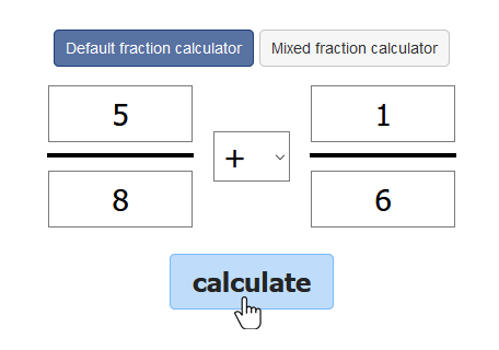 How to use the online fraction calculator